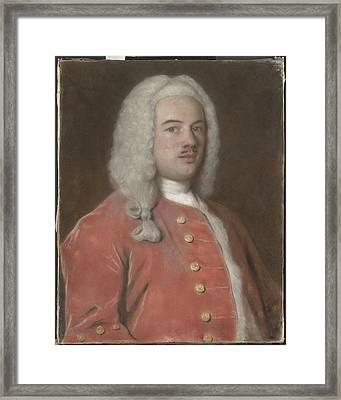 Portrait Of Cornelis Calkoen  1696-1764 Framed Print by Litz Collection