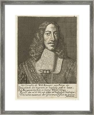 Portrait Of Cornelis De Witt, Samuel Van Hoogstraten Framed Print by Samuel Van Hoogstraten