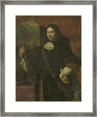 Portrait Of Cornelis Jacobsz De Boer, Captain In The Navy Framed Print by Litz Collection