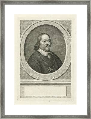 Portrait Of Cornelis Lampsins, Jacob Houbraken Framed Print by Jacob Houbraken