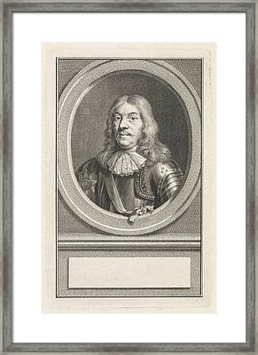 Portrait Of Cornelis Tromp, Jacob Houbraken Framed Print by Jacob Houbraken