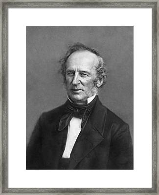 Portrait Of Cornelius Vanderbilt Framed Print by Matthew Brady