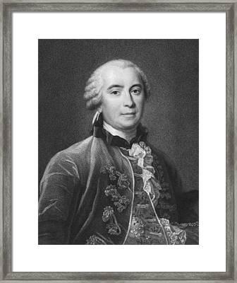Portrait Of Count De Buffon Framed Print by Underwood Archives