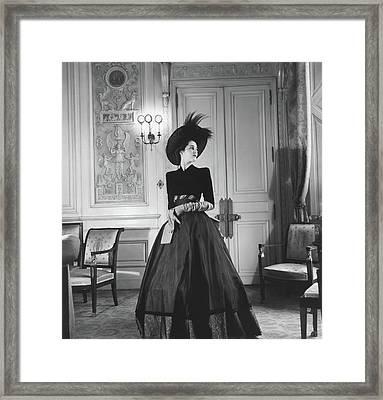 Portrait Of Countess Charles Emmanuel De La Framed Print by Horst P. Horst