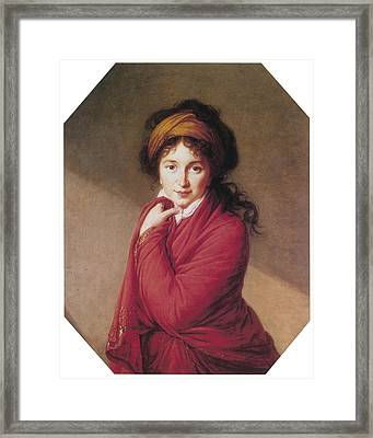 Portrait Of Countess Golovin Framed Print by Marie Louise Elisabeth Vigee-Lebrun