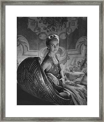 Portrait Of Countess Haugwitz-reventlow Framed Print by Horst P. Horst
