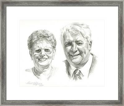 Portrait Of Couple. Commission. Framed Print