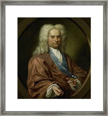 Portrait Of David Leeuw, Mennonite Cloth And Dry Goods Framed Print