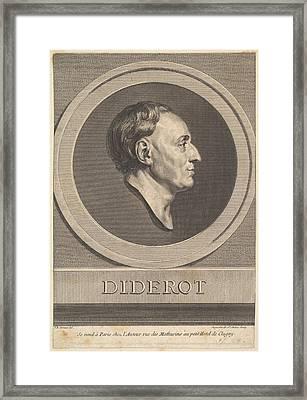 Portrait Of Denis Diderot Framed Print