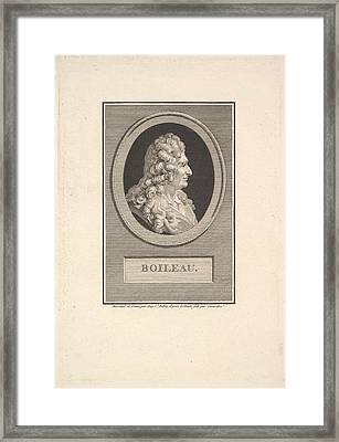 Portrait Of Despr�aux Nicolas Boileau Framed Print