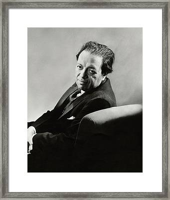 Portrait Of Diego Rivera Framed Print by Lusha Nelson