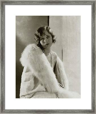 Portrait Of Dolores Costello Framed Print by Edward Steichen