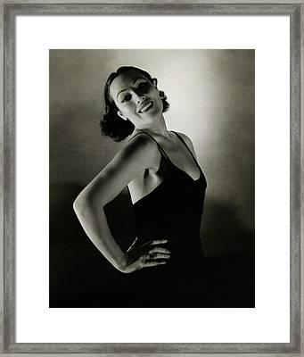 Portrait Of Dolores Del Rio Framed Print by Edward Steichen