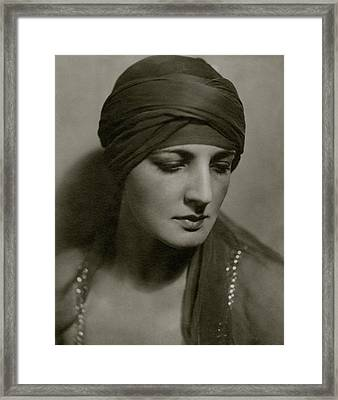 Portrait Of Dolores Framed Print by Geisler & Andrews