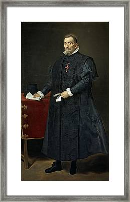 Portrait Of Don Diego Del Corral Y Arellano  Framed Print