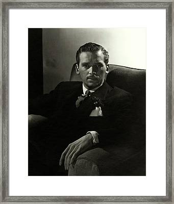 Portrait Of Douglas Fairbanks Jr Framed Print by Horst P. Horst