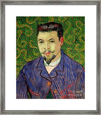 Portrait Of Dr Felix Rey Framed Print