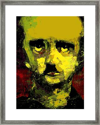 Portrait Of Edgar Allan Poe  Framed Print