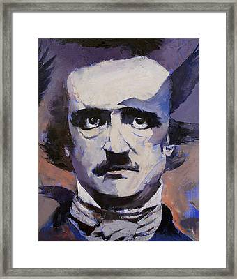 Edgar Allan Poe Framed Print by Michael Creese