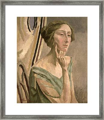 Portrait Of Edith Sitwell , 1915 Framed Print