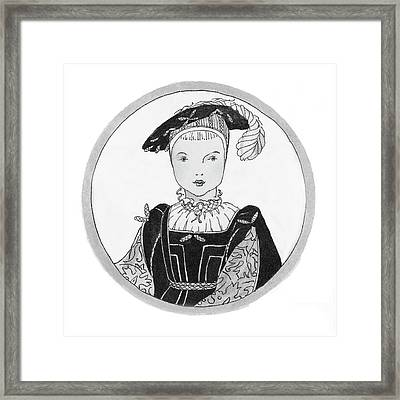 Portrait Of Edward Vi Framed Print by Claire Avery