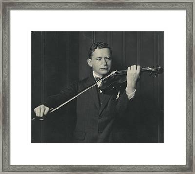 Portrait Of Efrem Zimbalist Framed Print