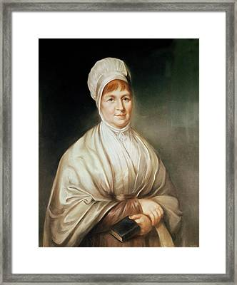 Portrait Of Elizabeth Fry 1780-1845 Framed Print by English School