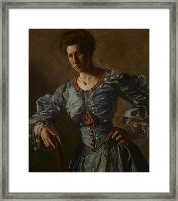 Portrait Of Elizabeth L Burton Framed Print by Thomas Cowperthwait Eakins
