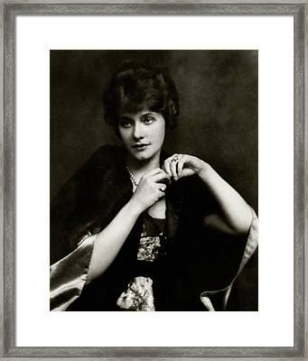 Portrait Of Elsie Ferguson Framed Print by Arnold Genthe