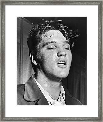 Portrait Of Elvis Presley Framed Print