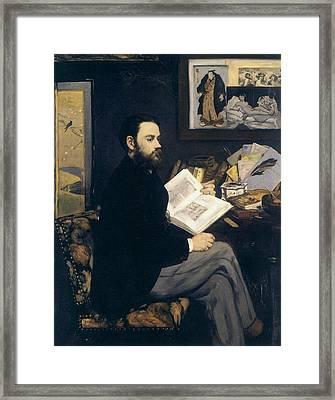 Portrait Of Emile Zola Framed Print