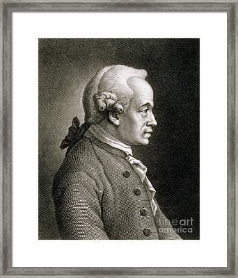 Portrait Of Emmanuel Kant Framed Print by French School
