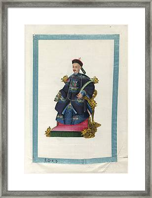 Portrait Of Emperor Taon Kwang Framed Print by British Library