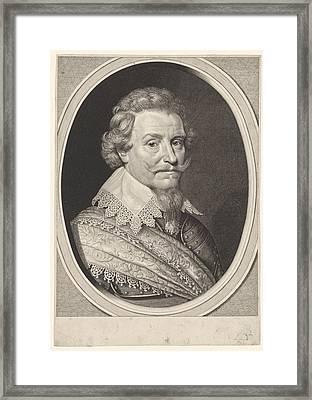 Portrait Of Ernst Casimir, Count Of Nassau-dietz Framed Print by Willem Jacobsz. Delff And Michiel Jansz Van Mierevelt