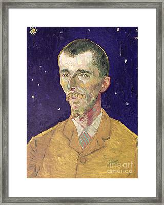 Portrait Of Eugene Boch Framed Print by Vincent Van Gogh