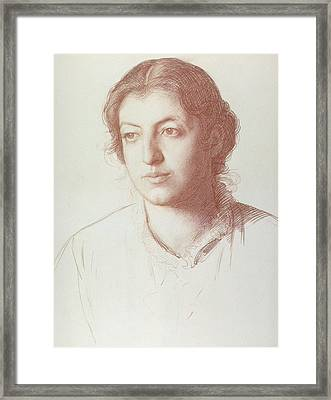 Portrait Of Euterpe Ionides Framed Print