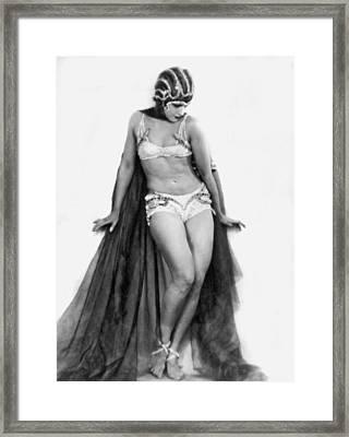 Portrait Of Exotic Dancer Framed Print by Underwood Archives