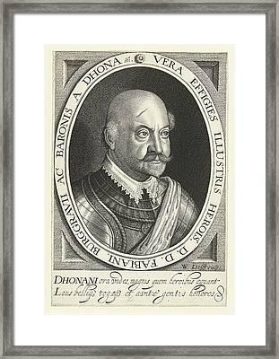 Portrait Of Fabian Von Dohna Framed Print by Willem Jacobsz. Delff