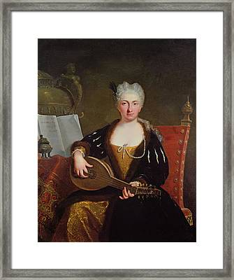 Portrait Of Faustina Bordoni, Handels Singer Framed Print by Bartolommeo Nazari