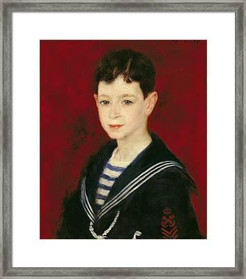 Portrait Of Fernand Halphen 1872-1917 1880 Oil On Canvas Framed Print by Pierre Auguste Renoir