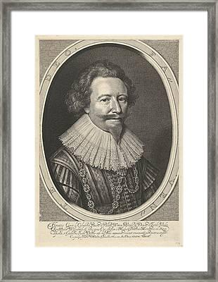 Portrait Of Floris II, Count Of Pallandt Framed Print by Willem Jacobsz. Delff And Michiel Jansz Van Mierevelt