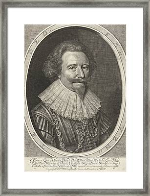 Portrait Of Floris II, Count Of Pallandtzaal Framed Print by Willem Jacobsz. Delff