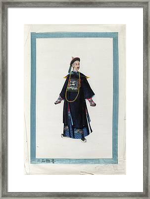 Portrait Of Fou Toi Framed Print by British Library