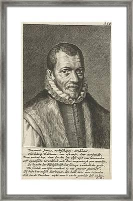 Portrait Of Franciscus Junius Framed Print by Geeraert Brandt (i)