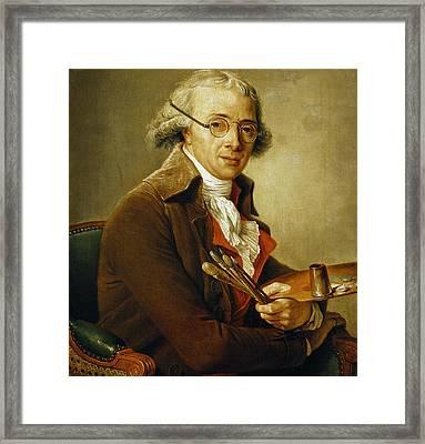 Portrait Of Francois-andre Vincent Framed Print