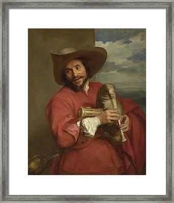Portrait Of Francois Langlois Framed Print by Anthony van Dyck