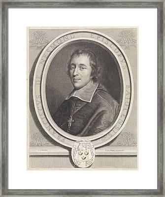 Portrait Of Franois II The Nesmond, Pieter Van Schuppen Framed Print by Pieter Van Schuppen