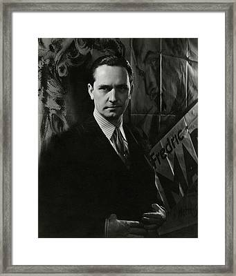 Portrait Of Frederic March Framed Print