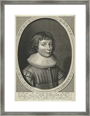 Portrait Of Frederick Henry Of The Palatinate Framed Print by Willem Jacobsz. Delff