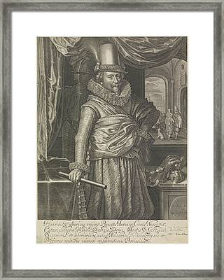 Portrait Of Frederick Henry, Prince Of Orange Framed Print by Willem Jacobsz. Delff And Pieter Goos
